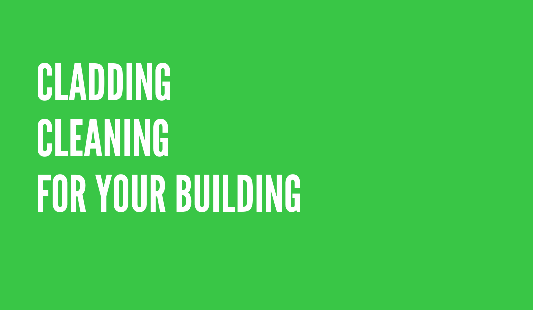 Cladding cleaning for your building - green background